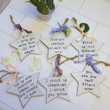 Perfect Quote hanging Stars